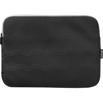 Targus - Debossed Laptop Sleeve - Gray/Black