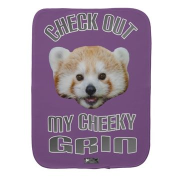 Cheeky Grin Baby Design by Kat Worth Burp Cloth