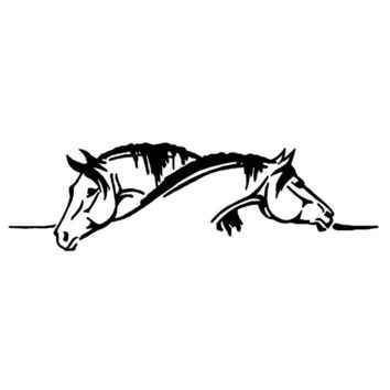 Creative Two Horses Graphical Car Sticker And Decal Funny Animal Car S