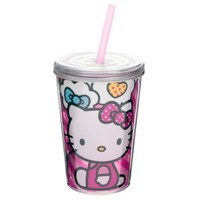 Zak! Designs® Hello Kitty® 13 oz. Double Wall Tumbler with Straw