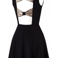 Bows Open Back Dress