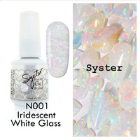 SYSTER 15ml Nail Art Soak Off Color UV Lamp Gel Polish - Color N001 - Iridescent White Glass - Free Shipping