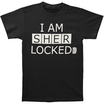 Sherlock Men's  I Am Sher Locked Slim Fit T-shirt Black Rockabilia