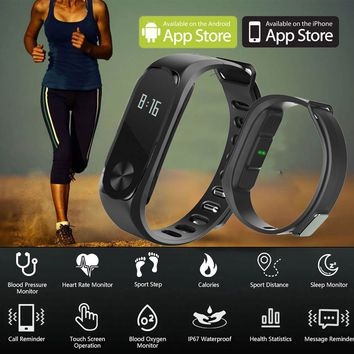 Bluetooth Sport Smart Watch Sensor Pedometer Heart Rate Fitness Activity Tracker