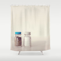 Salt and Pepper Shower Curtain by Dena Brender Photography