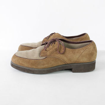 Vintage 70s Two-Toned Suede Oxford Hush Puppies | 7