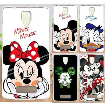 Newer Cute Mickey Mouse Donald Duck PC Painted Phone Case Capa For Lenovo A2010 Lenovo A 2010 Phone Cover Case Hood Skin Shell