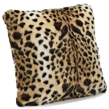 Leopard Faux Fur Pillows by Fabulous Furs