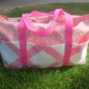 Small Tote bag, diaper bag, craft bag, knitting bag, teen bag