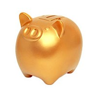 Coink! Gold Piggy Bank with Savings Sound Effects