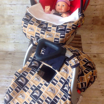 Western Michigan University Fleece Lined Infant Car Seat Canopy and Foot Muff Set