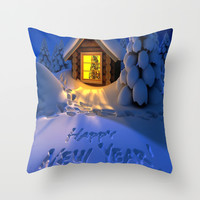 MERRY CHRISTMAS Throw Pillow by Acus