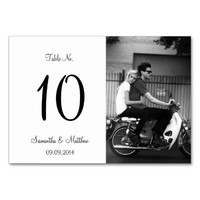 Modern Photo Wedding Table Number Cards