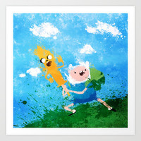 Adventure Time: Finn and Jake Art Print by Melissa Smith
