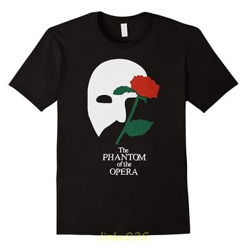The Phantom of The Opera Broadway Show Musical Men's White T-Shirt Size S To 3XL T Shirt Casual Short Sleeve Light TOP TEE