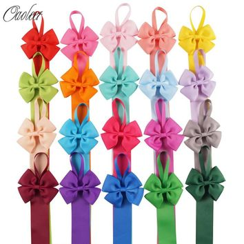 6pcs/lot Girls Solid Color Hair Bow