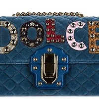 Dolce&Gabbana women's shoulder bag original lucia blu