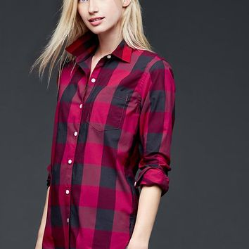 Plaid Relaxed Boyfriend Shirt