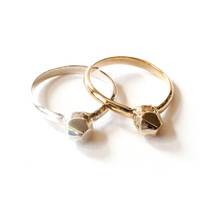 Stackable Rough Cut Metal Ring