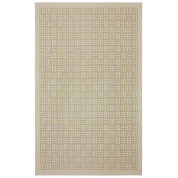 American Rug Craftsmen Seagate Checkered Past Crème Brulee Area Rug