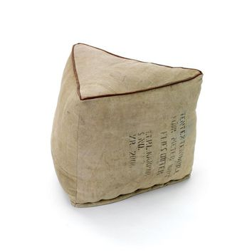 Recycled Canvas Triangle Pouf