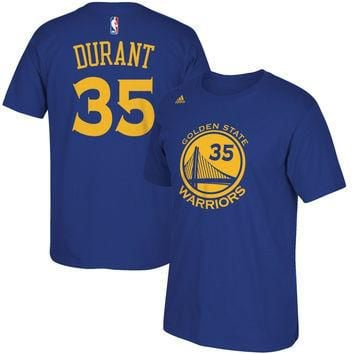 Kevin Durant Golden State Warriors adidas Name & Number T-Shirt - Royal