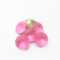 Six Rose Matte 8mm 1088 Foiled Swarovski Xirius Pointed Back Chaton Crystal DKSJewelrydesigns