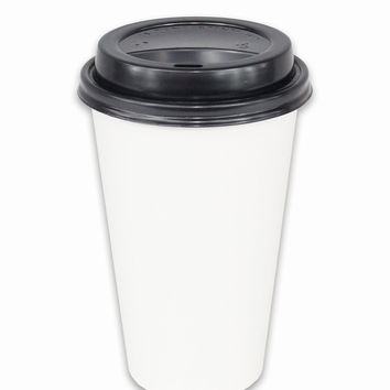 58 Williams Disposable Hot Coffee Cups - Multi-Pack of Cups and Lids - 16oz (50)