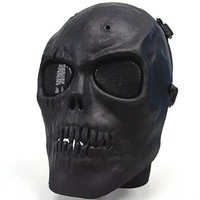 Airsoft Army of Two Skull Full Face Airsoft Protector Mask Black