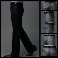 Slim Straight Men Formal Suit Pants