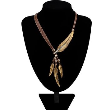 Feather Statement Necklaces