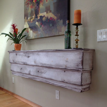 Mantel - Wood Shelf - Ledge - Handcrafted Wooden Furniture - Shabby Furniture - Chic - 50 Inches