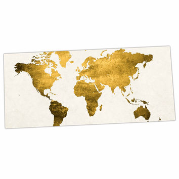"Chelsea Victoria ""Let Love Light The Way"" Gold Love Desk Mat"
