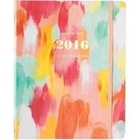 2015-2016 Paper Source Brushstroke Gold Foil Hidden Spiral Planner