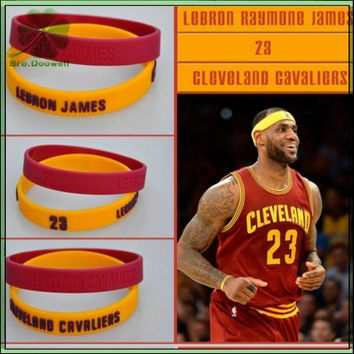 2pcs set silicone wristband bracelet bangle basketball star stephen curry james kobe jordan power bands  number 1