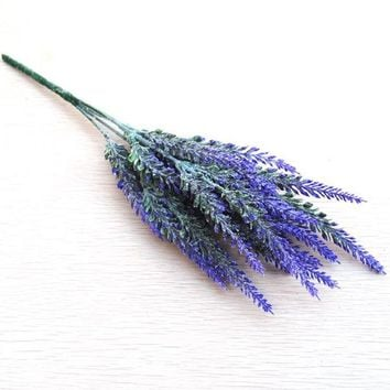Lavander Bouquet Real Touch Room Decor Artificial Flower
