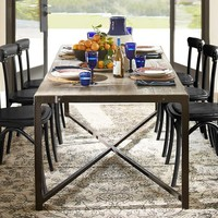CLINT RECLAIMED WOOD FIXED DINING TABLE