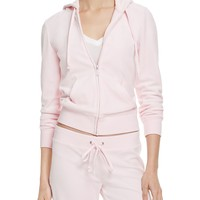 Juicy Couture Black LabelRobertson Velour Zip Hoodie in Baby Pink - 100% Bloomingdale's Exclusive