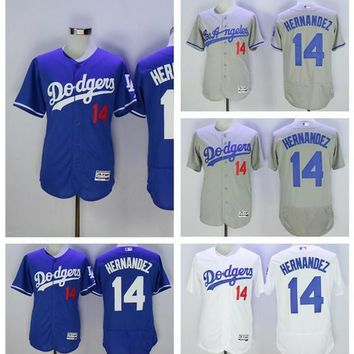 MLB Los Angeles Dodgers Jerseys Baseball 14 Enrique Hernandez Jersey Flexbase Men Grey