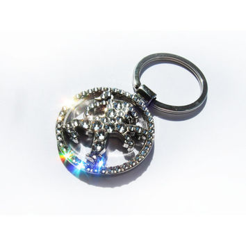 Bling Peugeot keychain with Swarovski crystals / Bling Peugeot Keyring / Peugeot sleutelhanger / Peugeot schlüsselanhänger Peugeot Key chain