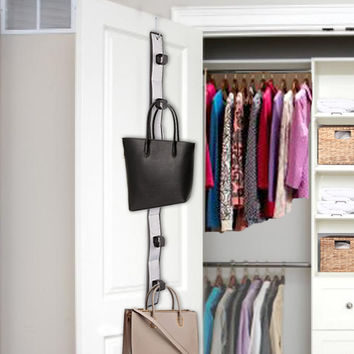 Over the Door Hanging Closet Purse Organizer