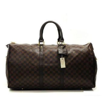 DCCKV3X Louis Vuitton LV Women Fashion Leather Travel Satchel Handbag Shoulder Bag Big luggage Bag