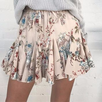 Addison Drawstring Floral Skirt