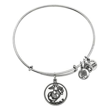 Alex and Ani U.S. Marine Corps Charm Bangle - Russian Silver