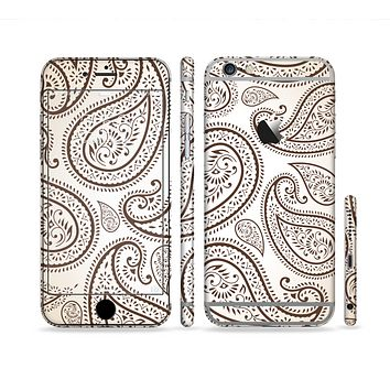 The Tan Highlighted Paisley Pattern Sectioned Skin Series for the Apple iPhone 6
