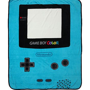 Nintendo Game Boy Color Throw Blanket