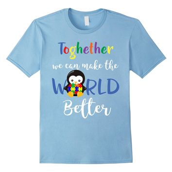 Together Autism Awareness Shirt -Teachers- Kids-Women- Men