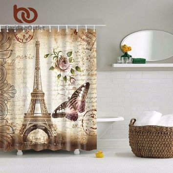 Vintage Paris Eiffel Shower Curtain
