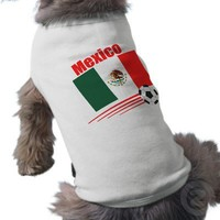 Mexican Soccer Team Pet Shirt from Zazzle.com