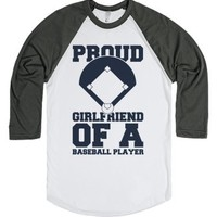 Proud Baseball Girlfriend-Unisex White/Asphalt T-Shirt